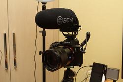 BOYA BY-BM3031 소니 A7M3 샷건 마이크 사용기