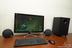 PC 스피커 로지텍 G560은 7.1채널의 서라운드와 같은 다중 채널 음악 소스까지 지원해
