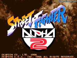 마메 게임 - 스트리트 파이터 제로2 (Street Fighter Zero 2) / 스트리트 파이터 알파2 (Street Fighter Alpha 2)
