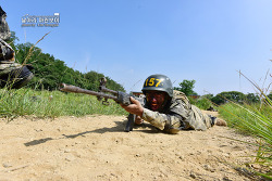 신병 1246기 3교육대 극기주 - 각개전투훈련