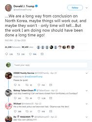 트럼프 김정은과 폼페오를 칭찬하다