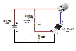 릴레이대용으로 모스펫(MOSFET)을 이용한 대전류 스위칭 방법... 테스트 실패..ㅠㅠ
