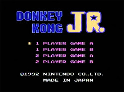 [FC] 동키콩 주니어 (Donkey Kong Jr.) 1983 - [2] 게임플레이