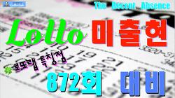 로또랩 특징점 미출현 로또872회당첨번호 예상 운테크