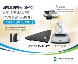 [대전보청기] 웨이브히어링 대전점, 와이덱스 보청기 연말이벤트 <TV가 잘 들리는 보청기, TV Play 증정>