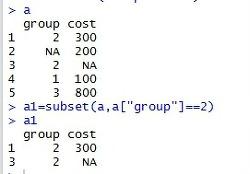 [R프로그램] R에서 조건에 따른 부분집합을 구하는 경우