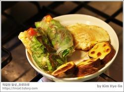 [적묘의 간단레시피]간단브런치,라이스페이퍼,상추,고기,계란,구운 고구마, 이시국,집에서 해먹기
