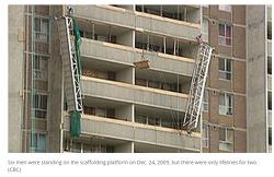 캐나다 중대재해기업처벌법 사례, 건설노동자 4명 추락사고, 건설사 소장 3년 6개월 실형 선고 2016년