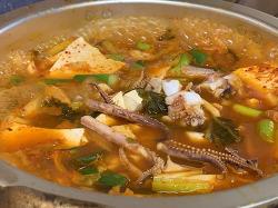 을지로 인현시장 맛집 통나무식당 오징어 김치찌개