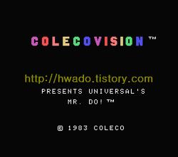 미스터 도(Mr. Do!, ミスタードゥ) 콜레코비젼(ColecoVision, コレコビジョン) 버전
