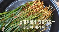 절이지않고 손쉽게 만들수있는 부추김치 담그는법(김진옥요리가좋다)