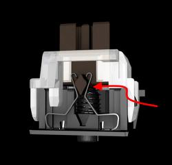 새로운 콕스 V광축 스위치 CK777 키보드