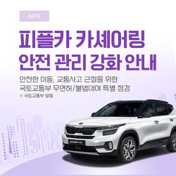 피플카 카셰어링 안전 관리 강화 안내(교통사고 근절을 위한 국토교통부 특별 점검)