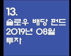 13. 슬로우 배당 펀드 2019년 08월 투자 - 코스피 대비 수익률(+19.02%)