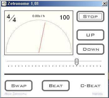 꽤 괜찮은 메트로놈 프로그램 zetronome