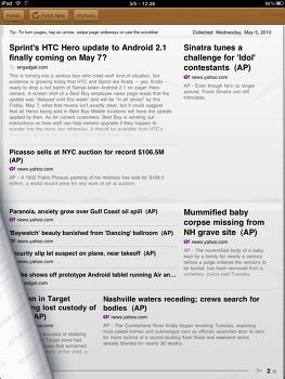 iPad 용 RSS 뉴스 리더 app, The Early Edition