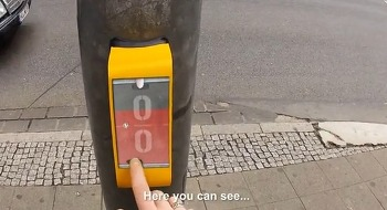건널목에서 게임 한 판? A pong traffic light in Germany