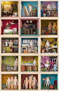 cloth-doll rooms