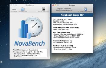 [Mac App] 맥용 하드웨어 벤치마킹점수 NovaBench