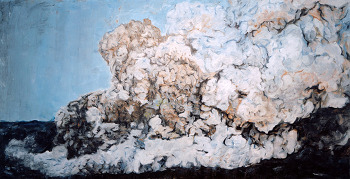 clouds 100 x 200 oil on canvas 20120421