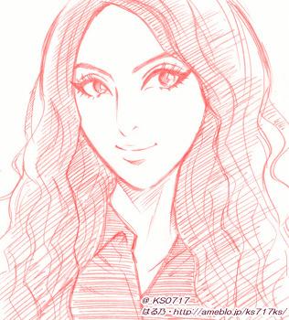 일본팬 하루노(はる乃)씨의 카라 연필 스케치