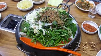 [경남 거제도 옥포 매립지 대우조선해양 오션프라자 앞 맛집] 솔밭식당 - 영양탕