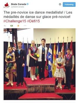 한국 아이스 댄스 꿈나무들, 캐나다 전국대회 포디움에 오르다
