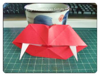 할로윈데이접기(호박과입술접기)