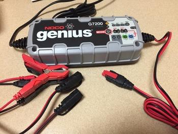 노코 지니어스 G7200 배터리 재생 충전기 구입 및 테스트기 (NOCO Genius + G7200EU + AGM 배터리 + 충전 전압 + 시동 + 폭스바겐 골프 + 1.6 + 블루모션)