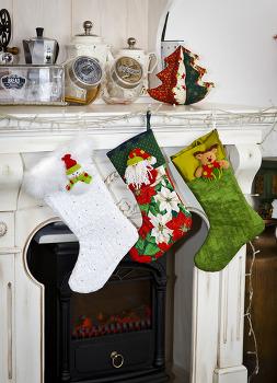 SEWING_크리스마스 양말과 트리, 인형들
