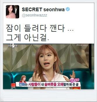 시크릿 정하나(징거) 와 한선화의 불화설은 무..