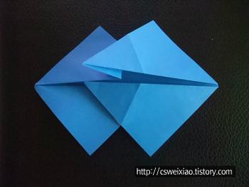 종이접기기본형 - 쌍물고기접기