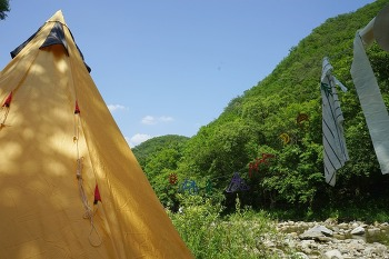 오지캠핑 : 병지방 계곡(부제: 삼시세끼) 05