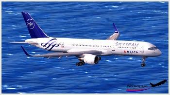 Delta B757 at St.Maarten