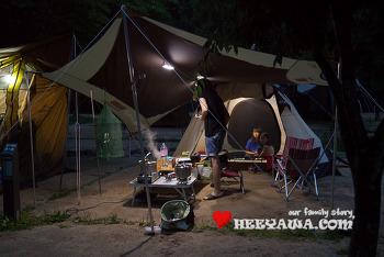 캠핑#18 - 소백산 삼가야영장, 제대로 우중캠핑