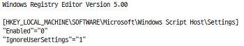 WSH 비활성화(스크립트 파일로 유포되는 랜섬웨어 예방 팁)