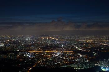 남한산성에서 바라본 서울