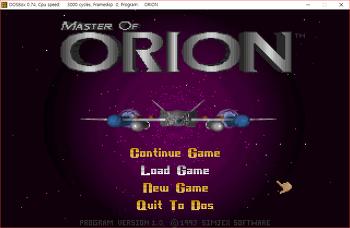 마스터 오브 오리온(MASTER of ORION) 1 비공식패치 v1.40m