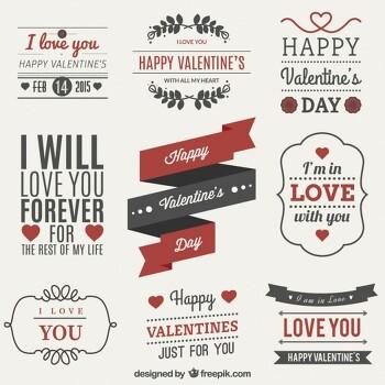 발렌타인데이 라벨/예쁜 라벨 스티커