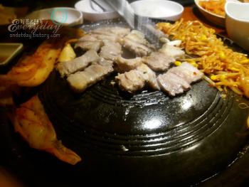 삼겹살이 맛있는집 익산맛집 도적, 김콩삼 맛있어유~