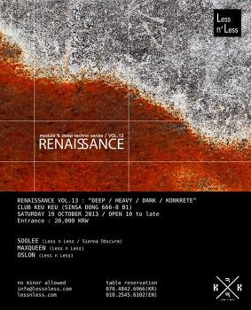 19/Oct/2013 Renaissance vol.13 at Keu Keu