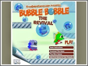 90년대 오락실(고전)게임 보글보글(bubble bobble)플래쉬 게임