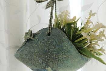 개구리가 있는 벽걸이 장식품/20150107