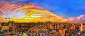 서울 서쪽하늘의 석양 Sunset