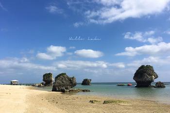 [오키나와 5] 미바루비치 mibaru beach : 물감을 풀어놓은 듯한 빛깔