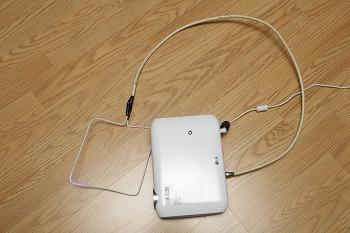 미니빔과 연결 가능한 옷걸이 안테나 만들기