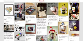 핀터레스트(Pinterest)에 푹 빠졌어요! 온갖 종류의 잡지책을 받아보는 느낌.