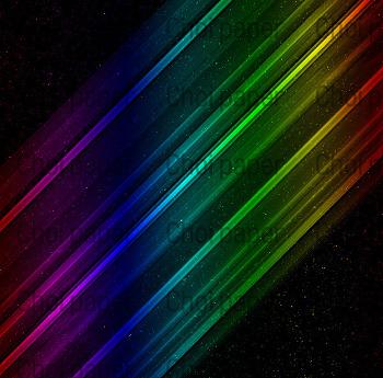 무지개 빛이 나는 배경 만들기(한글/영문표기)