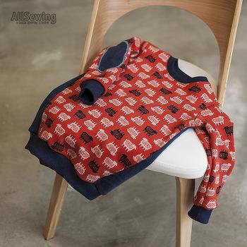 아동복 기본 티셔츠 응용 작품 만들기 - 포항 소잉공방 올소잉 중급과정 -