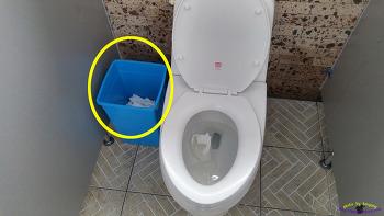 화장지를 반드시 변기에 버려야 하는 이유
